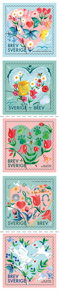 [Greetings Stamps - Hearts and Flowers, type ]