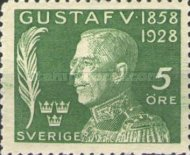 [The 70th Anniversary of the Birth of King Gustaf V, type AF]