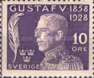 [The 70th Anniversary of the Birth of King Gustaf V, type AF1]
