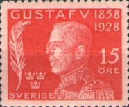 [The 70th Anniversary of the Birth of King Gustaf V, type AF2]