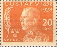 [The 70th Anniversary of the Birth of King Gustaf V, type AF3]