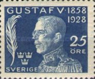 [The 70th Anniversary of the Birth of King Gustaf V, type AF4]