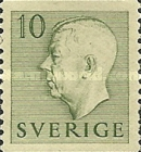 [King Gustaf VI Adolf of Sweden - Without Imprint, type DB]