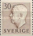 [King Gustaf VI Adolf of Sweden & Tree Crowns - Without Imprint, type DB15]