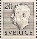 [King Gustaf VI Adolf of Sweden & Tree Crowns - Without Imprint, type DB9]