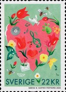 [Greetings Stamps - Hearts and Flowers, type DBB]