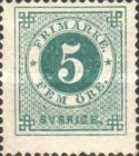 [Numerals in Circle - Different Perforation, type F13]
