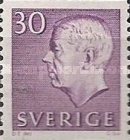 [King Gustaf VI Adolf of Sweden & Tree Crowns - New Colors and Values, type FA57]