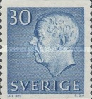 [King Gustaf VI Adolf of Sweden - White Numerals, with Imprint, type FA6]