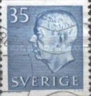 [King Gustaf VI Adolf of Sweden & Tree Crowns - New Colors and Values, type FA60]