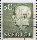 [King Gustaf VI Adolf of Sweden & Tree Crowns - New Colors and Values, type FA67]