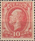 [King Oscar II Stamp of 1885 with Blue Coach Horn on Back, type H1]