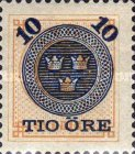 [Numerals in Circle Stamps of 1877-1878 Overprinted with Tree Crowns and Surcharged, type I1]