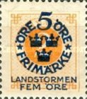 """[Territorial Defence - Numeral Stamps Overprinted """"LANDSTORMEN"""" & Surcharged, Typ O]"""