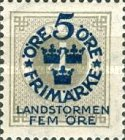"""[Territorial Defence - Numeral Stamps Overprinted """"LANDSTORMEN"""" & Surcharged, Typ O2]"""