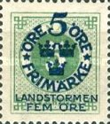 """[Territorial Defence - Numeral Stamps Overprinted """"LANDSTORMEN"""" & Surcharged, Typ O3]"""