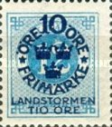 """[Territorial Defence - Numeral Stamps Overprinted """"LANDSTORMEN"""" & Surcharged, Typ O5]"""