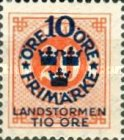 """[Territorial Defence - Numeral Stamps Overprinted """"LANDSTORMEN"""" & Surcharged, Typ O6]"""