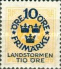 """[Territorial Defence - Numeral Stamps Overprinted """"LANDSTORMEN"""" & Surcharged, Typ O7]"""