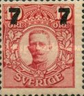 [King Gustaf V Stamps of 1911-1919 Surcharged, type R]