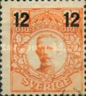 [King Gustaf V Stamps of 1911-1919 Surcharged, type R1]