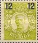 [King Gustaf V Stamps of 1911-1919 Surcharged, type R2]