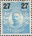 [King Gustaf V Stamps of 1911-1919 Surcharged, type R3]
