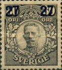 [King Gustaf V Stamps of 1911-1919 Surcharged, type R5]