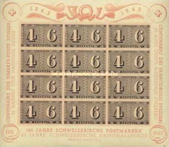 [The 100th Anniversary of the Swiss Stamps, Tip ]