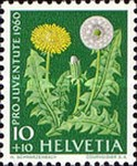 [Pro Juventute - The 150th Anniversary of the Birth of Alexandre Calame - Meadow and Garden Flowers, type ABN]