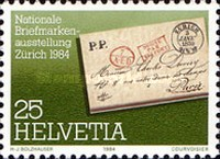 [National Philatelic Exhibition NABA ZURI `84, Zurich - The 1100th Anniversary of the Saint Imier, Tip AWM]