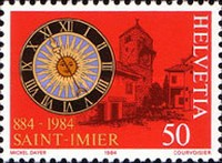 [National Philatelic Exhibition NABA ZURI `84, Zurich - The 1100th Anniversary of the Saint Imier, Tip AWN]