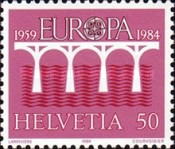 [EUROPA Stamps - Bridges - The 25th Anniversary of CEPT, Tip AWP]