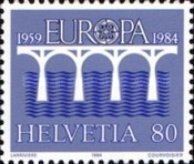 [EUROPA Stamps - Bridges - The 25th Anniversary of CEPT, Tip AWQ]