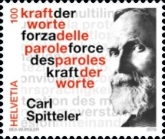 [The 100th Anniversary of the Nobel Prize in Literature to Carl Spitteler, 1845-1924, Typ CWK]
