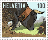 [The 100th Anniversary of Swiss Federation of Livestock Farming of the Herens Breed, Typ CXF]