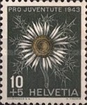 [Pro Juventute - The 100th Anniversary of the Death of Emanuel von Fellenberg - Flowers, Tip QA]