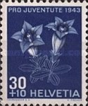 [Pro Juventute - The 100th Anniversary of the Death of Emanuel von Fellenberg - Flowers, Tip QC]