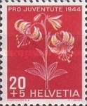 [Pro Juventute - The 100th Anniversary of the Birth of Numa Droz - Flowers, Tip QQ]