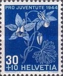 [Pro Juventute - The 100th Anniversary of the Birth of Numa Droz - Flowers, Tip QR]