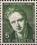 [Pro Juventute - The 100th Anniversary of the Death of Rodolphe Töpffer - Flowers, Tip RZ]