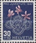 [Pro Juventute - The 50th Anniversary of the Death of Jacob Burckhardt - Flowers, Tip SP]