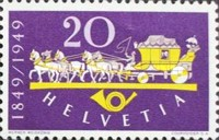 [The 100th Anniversary of the Swiss Post, Tip TS]