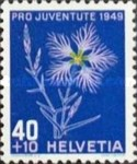 [Pro Juventute - The 400th Anniversary of the Death Niklaus Wengi - Flowers, Tip UQ]