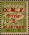 [France Postage Due Stamps of 1920 Overprinted O. M. F. - Syria