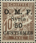 [France Postage Due Stamps of 1920 Overprinted O. M. F. - Syrie