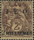 """[French Postage Stamps Surcharged & Overprinted """"T.E.O."""" - """"Territories Ennemis Occupés"""", type A1]"""