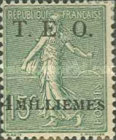 """[French Postage Stamps Surcharged & Overprinted """"T.E.O."""" - """"Territories Ennemis Occupés"""", type A3]"""