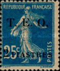 """[French Postage Stamps Surcharged & Overprinted """"T.E.O."""" - """"Territories Ennemis Occupés"""", type A6]"""