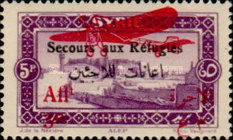 [Airmail - War Refugees Fund - Previous Issues Overprinted